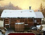 The frozen sleigh timber house escape
