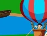 Cute Boy Parachute Escape