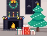 GFG Christmas Fireplace Quick Escape