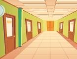 GFG Hallway Many Doors Escape