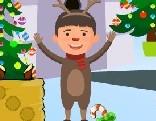 AVM Christmas Deer Boy Escape