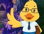 G4K Cartoon Duck Teacher Escape