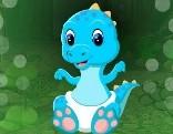 G4K Blue Baby Dinosaur Escape