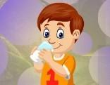 G4K Milk Drinking Boy Escape