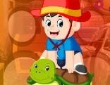G4K Turtle And Little Boy Escape
