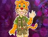 G4K Cartoon Tiger Escape